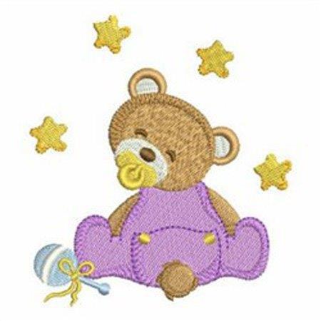 Nuscheli bestickt mit Teddy